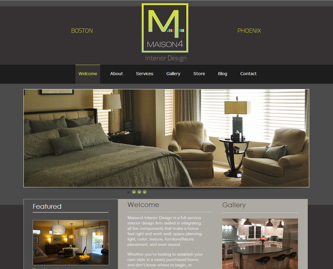 Ct web design portfolio north forty road wordpress web for Top home decor sites